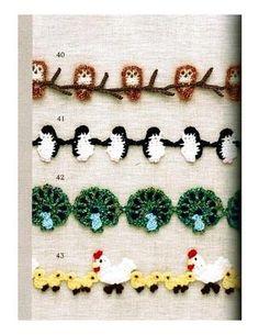 adorable Japanese crochet trims!!  A whole book of diagrams!