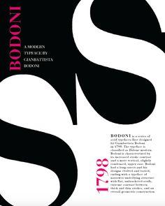 Black Bodoni Poster