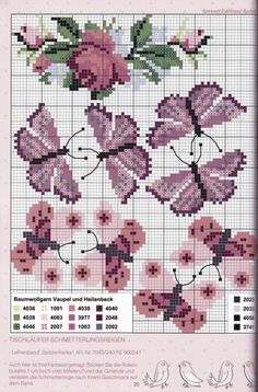 Butterfly Cross Stitch, Cross Stitch Bird, Cross Stitch Animals, Butterfly Pattern, Cross Stitch Flowers, Cross Stitch Charts, Cross Stitching, Cross Stitch Embroidery, Cross Stitch Patterns