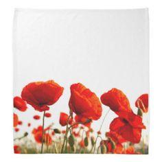 Red Poppies Kerchiefs