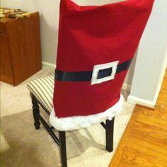 Cute Santa chair covers