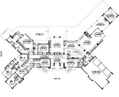 LOVE this floor plan!!!! One level, four bedroom, media room AND ...