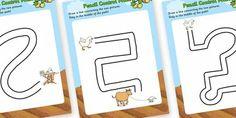 Preview: Farmer Duck Pencil Control Maze Worksheets ... design my own