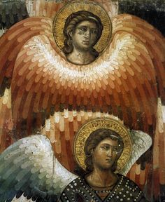 The Last Judgement (detail) by Pietro Cavallini,1290s, fresco in Santa Cecilia in Trastevere, Rome.