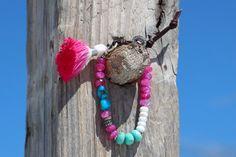 Boho Diamond Tassel Bracelet Knotted by HappyGoLuckyJewels on Etsy