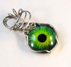 Picknose - A Darke Eye Pendant Wire Wrapped Pendant Evil Eye Jewelry Wire Wrapped Jewelry Evil Eye Pendant
