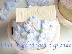 DIY Sweets Deco Hydrangea Cup Cake Gift Box - YouTube