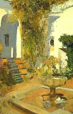 Joaquin Sorolla Garden Painting, Garden Art, Contemporary Landscape, Abstract Landscape, Art Espagnole, Spanish Art, Spanish Painters, Great Paintings, Impressionist Paintings