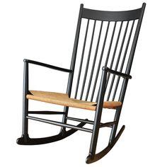 Vintage Hans Wegner J16 Rocking Chair