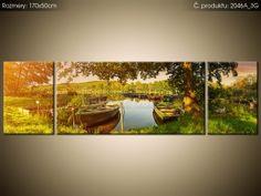 Tlačený obraz Člny na jazere 170x50cm 2046A_3G