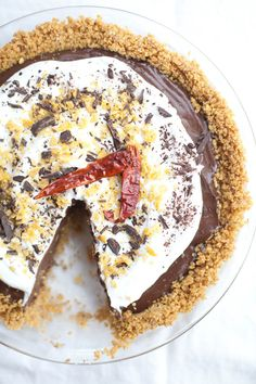 Mexican Chocolate Tortilla Chip Pie