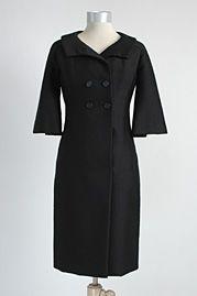 Early 1960's Galanos Wool Dress