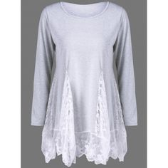 20.14$  Buy now - http://divhc.justgood.pw/go.php?t=204053603 - Lace Panel See Thru Tee