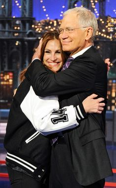 Julia Roberts & David Letterman on her last appearance on The Late Show With David Letterman, Wednesday, May 13, 2015