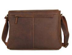 8bfd20e86696 Men's bag leather bag vintagemen's bag handmade crazy horse leather  briefcase messenger bag r3