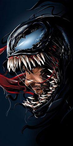 Venom Spiderman, Marvel Venom, Spiderman Art, Amazing Spiderman, Marvel Art, Deadpool Wallpaper, Avengers Wallpaper, Venom Pictures, Venom Comics