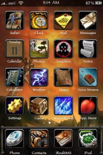 Download free Wood Box All In One IPhone Theme Mobile Theme