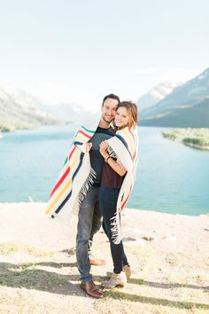 Classic Canadian Mountain engagement session - Waterton, Alberta, Canada - Heidrich Photography