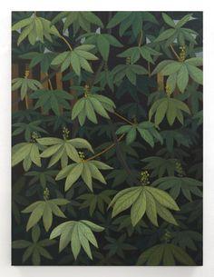Stephen McKenna  Horse Chestnut Leaves  2012 oil on canvas 120 x 90 cm / 47.2 x 35.4 in