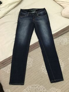 American Eagle Outfitters Super Stretch Jeggings Size 4 Reg #AmericanEagleOutfitters #SlimSkinny