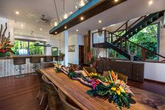 Bali Villa Photography - Villa Laut - dining and kitchen areas afternoon