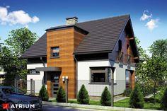 Projekty domów - Projekt domu z poddaszem POLO - wizualizacja 1 Minimal House Design, Simple House Design, Minimal Home, Home Building Design, Building A House, Home Fashion, Bungalow, Minimalism, Cottage