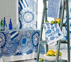 Marimekko Siirtolap Table Cloth by: Marimekko Balance Design, Decor Scandinavian, Textiles, Bold Prints, Vintage Disney, Surface Design, Textile Design, Printing On Fabric, Pattern Design