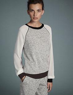 Colour Block Pyjama Top | M&S