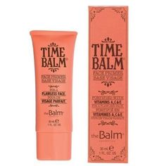 TimeBalm Face Primer with Vitamins A, C & E is designed to be worn alone for visibly softer skin, or under makeup so your look stays put. It also helps even out skin tone and minimizes the appearance of fine lines and pores. Too Faced Primer, Foundation Primer, How To Apply Foundation, Makeup Primer, Face Primer, E Cosmetics, Beautiful Brown Eyes, Even Out Skin Tone, Minimize Pores