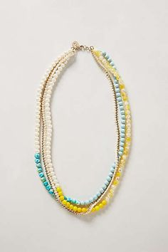 Anthropologie - Lime Blossom Necklace