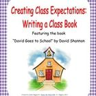 """A printable book activity based on the books, """"David goes to School"""" and """"No David"""" by David Shannon. Students will write a book to show positive c..."""