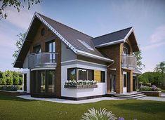 Herbert - murowana – beton komórkowy - zdjęcie 2 Building A Cabin, Home Building Design, Home Design Plans, Home Interior Design, Studio Type Apartment, House Outside Design, Village House Design, Modern Bungalow House, D House