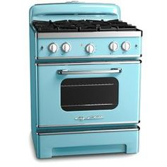 "Cook like a pro with vintage style and discover the 30"" Retro Stove with stainless steel construction. Customize it for your kitchen with 200+ color options."