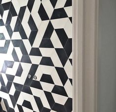 @mattersofspace is going graphic with our half hex and we approve! so fun right?! by cletile