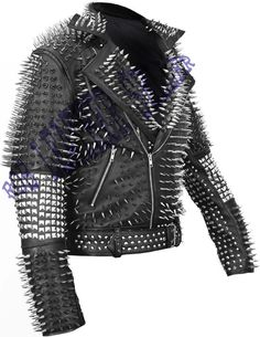 #Classic #Black #Brando #Belted #Leather #Jacket #Silver #Spike #Studded #Leather #Brando #Jacket #Spiked #Men #Leather #Jacket #Gents #Biker #Jacket Leather Kilt, Studded Leather Jacket, Biker Leather, Leather Men, Leather Jackets, Cowhide Leather, Black Leather, Trendy Mens Fashion, Man Fashion