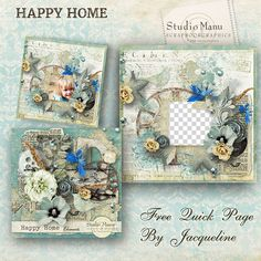 Manudesigns is offering a beautifull #QP from her last kit  Happy Home on her blog! made by Jacqueline :) #freebie #digiscrap #digitalscrapbooking