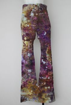 6937b8fb6d0959 Tie Dye Yoga pants - size medium- Na's Favorite crinkle by A Spoonful of  Colors