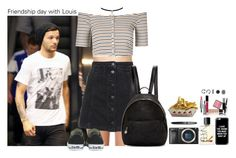"""Friendship day with Louis"" by sticthen ❤ liked on Polyvore featuring Forever 21, NARS Cosmetics, Fountain, Sony, Cheap Monday, Topshop, Glamorous, Givenchy, Converse and STELLA McCARTNEY"
