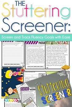 Stuttering can be difficult to treat and track. It can be even harder to know where to start when we get new students who stutter. This screener allows you to get a snapshot of a student's fluency skills and allows your to track their progress during trea Fluency Activities, Speech Therapy Activities, Language Activities, Physical Activities, Speech Language Pathology, Speech And Language, Our Lady, Therapy Ideas, Therapy Tools