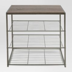 Apartment 4 Tier Shoe Rack With Rustic Oak Finish Top Gray Metal - Threshold™ : Target What is a Sta Shoe Rack Grey, 3 Tier Shoe Rack, Diy Shoe Rack, Shoe Storage, Shoe Racks, Storage Rack, Shoe Rack Target, Shoe Rack Oak, Storage Ideas