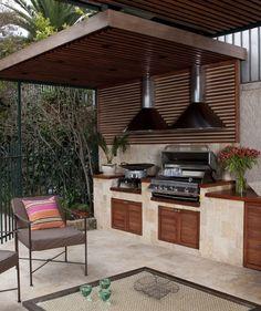 Outdoor Barbeque Area, Indoor Outdoor Kitchen, Backyard Kitchen, Summer Kitchen, Outdoor Rooms, Backyard Patio, Outdoor Living, Outdoor Decor, Barbecue