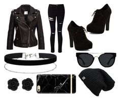 """""""Motorcycle Ride"""" by kaykay200 on Polyvore featuring Anine Bing, Miss Selfridge, New Look, Quay and Richmond & Finch"""