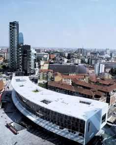 From the top of the Unicredit Tower. What an amazing view people who work here get!
