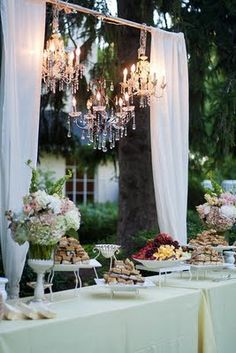 We have rentals to create this look including a chandelier!