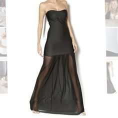 """NEW! Couture Long Black Bandage Dress (Small) New with tags, in packaging!! Long strapless bandage dress with a long soft tulle skirt. Fiber Content: 92% polyester, 2% spandex Fits true to size. Model is wearing size S. Model's height 5'7"""", bust 32"""", waist 25"""", hips 34"""" ... Please like, share & follow as I'll be posting more listings soon! Thanks! SK Boutique WOW couture Dresses Strapless"""