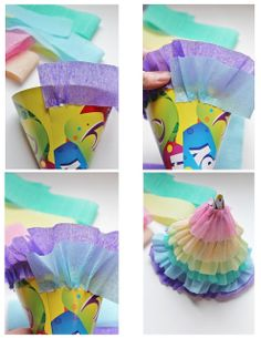 Icing Designs: DIY rainbow ruffle party hats: 1 of 2