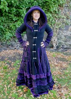 Custom Gypsy coat from recycled sweaters by SpiralGypsy RESERVED for Gemma, please do not purchase