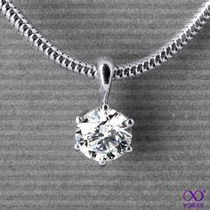 Venilia in white gold with a 1.12 ct. brilliant #Yorxs #Diamantanhänger
