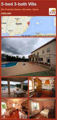 5-bed 3-bath Villa in Els Poblets Denia, Alicante, Spain ►€350,000 #PropertyForSaleInSpain