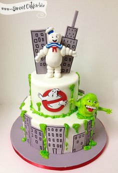 Ghostbuster Birthday Cake Fondant Cakes Party Cakes throughout Awesome Ghostbusters Birthday Cake - Party Supplies Ideas Cakes To Make, Fancy Cakes, How To Make Cake, Ghostbusters Cake, Ghostbusters Birthday Party, Cupcakes, Cupcake Cakes, Cake Paris, Movie Cakes